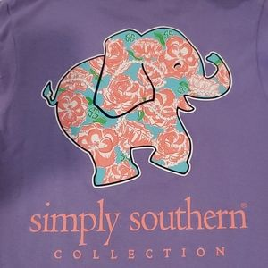Simply Southern Purple Graphic Tee Shirt